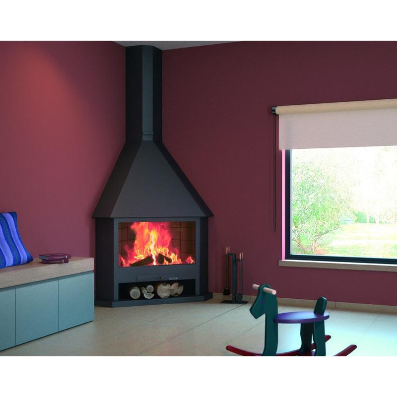Chimenea de rinc n chimenea base y refractarios ind9426 - Adaptar chimenea para calefaccion ...