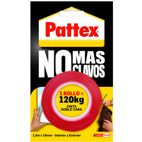 cinta pattex doble cara 1 5m 729270 revestimiento de