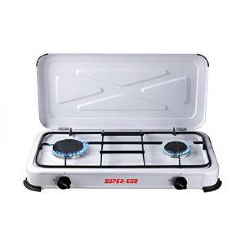 Cocina portatil a gas dos fuegos super ego seh0248 for Cocina de gas de dos fuegos