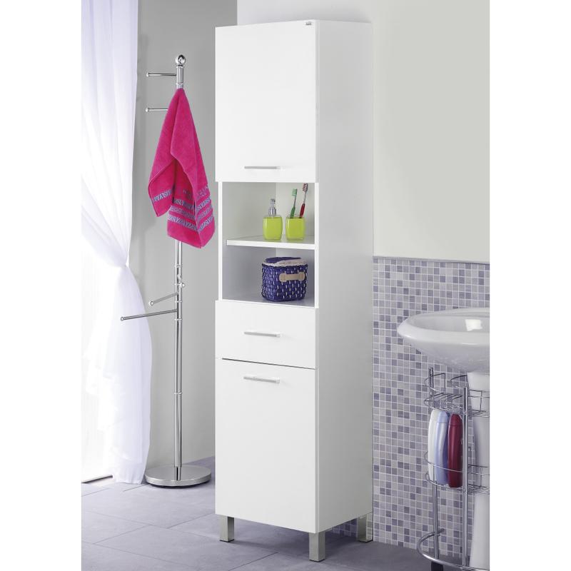 Colonna portasciugamani mobile bagno arredo design moderno due ante 606006 - Bagno