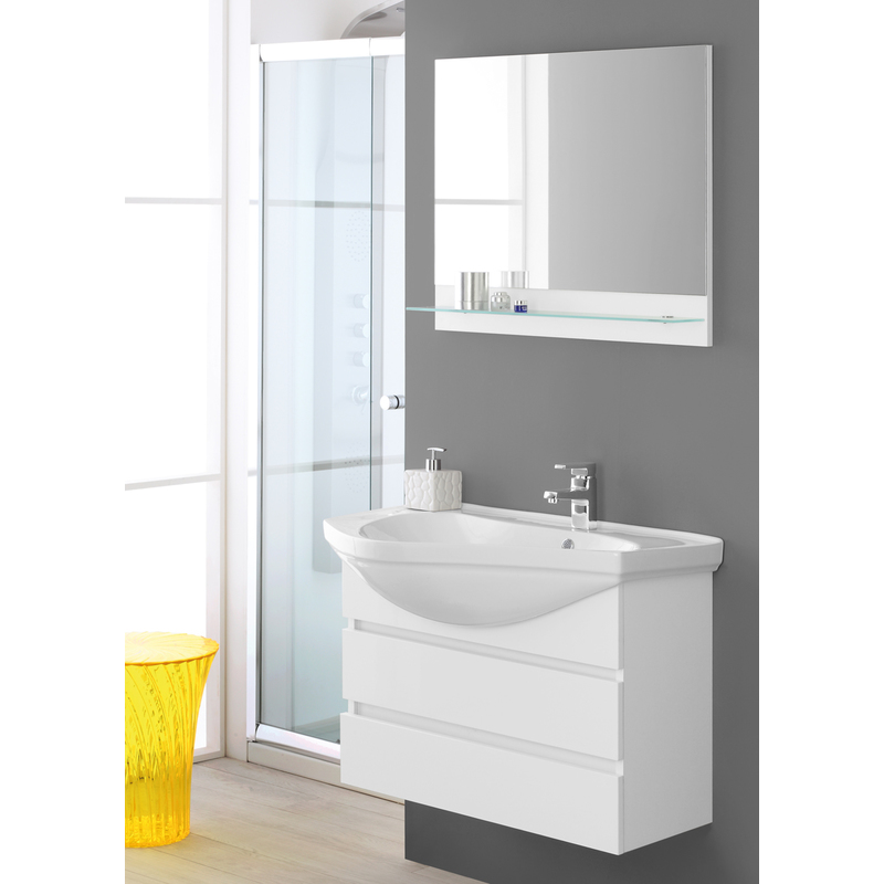 Composizione bagno laccato bianco 799022 bagno - Composizione bagno ...