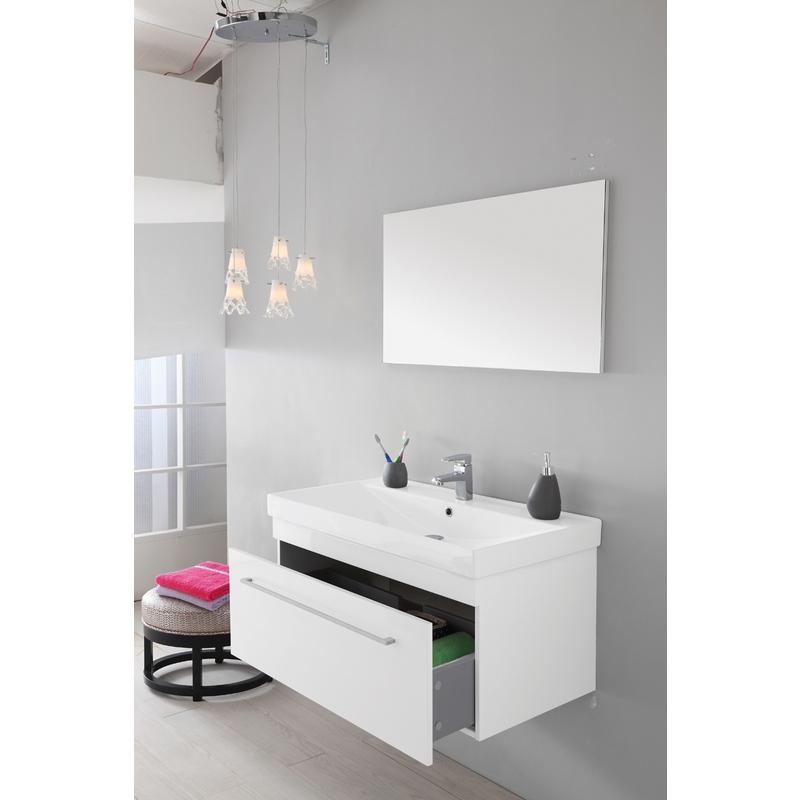 Composizione bagno laccato bianco 017094 bagno - Composizione bagno ...