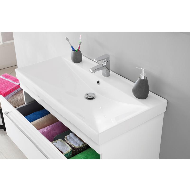 Composizione bagno laccato bianco 017094 bagno - Mobile bagno bianco laccato ...