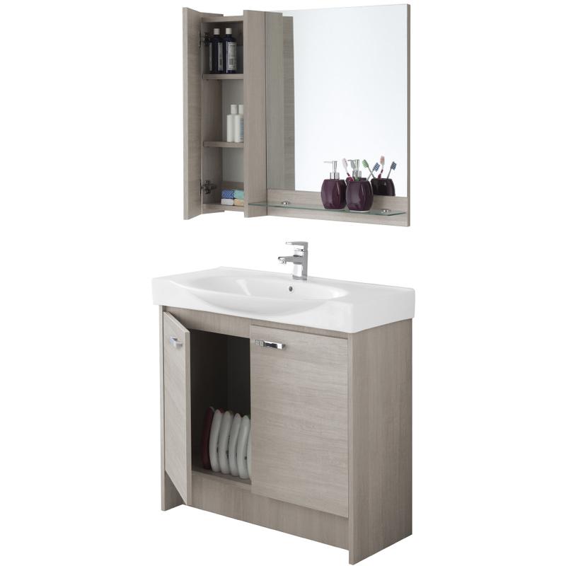 specchio bagno con mensola 70 : ... bagno con consolle specchio pensile mensola due ante 606065 - Bagno