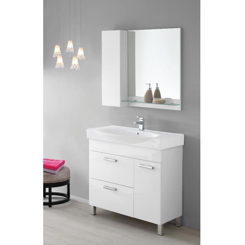 specchio bagno con mensola 70 : ... bagno con consolle specchio pensile mensola due ante 606067 - Bagno