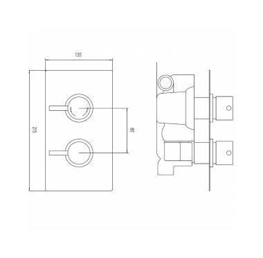 Conjunto de ducha con llave termost tica mezcladora for Precio de llave mezcladora para ducha