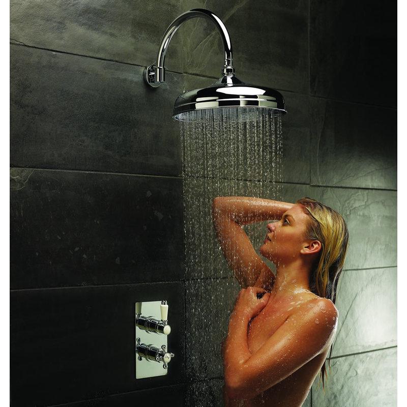 Conjunto de ducha tradicional con llave termost tica de for Llave ducha grival
