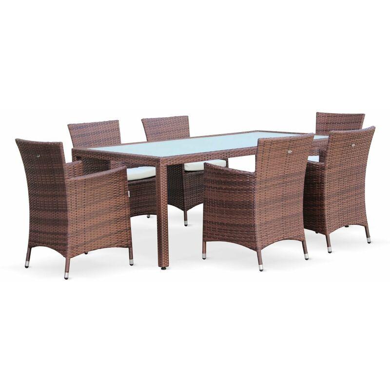 Conjunto de mesa y sillas de jardin ratan sintetico Conjunto de mesa y sillas de jardin