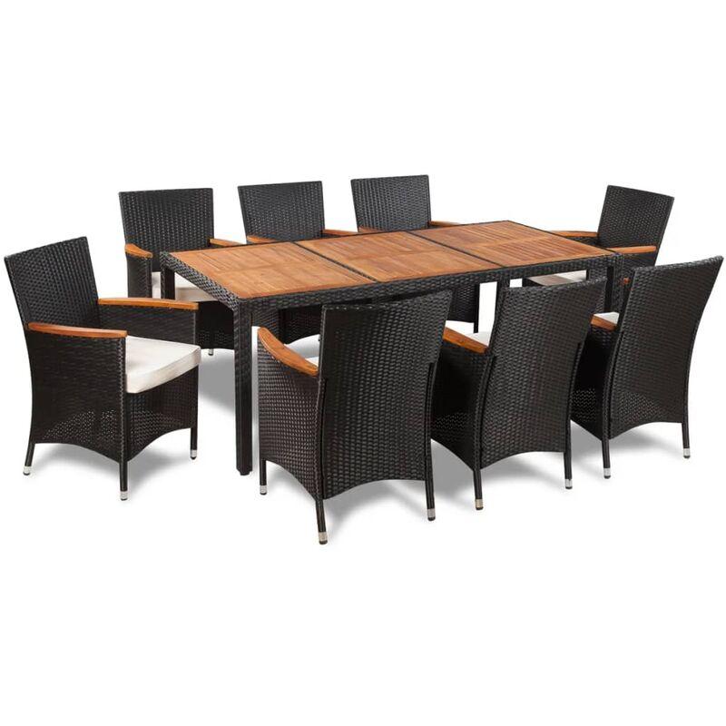 Conjunto de muebles de poli rat n para el jard n con 8 for Muebles para jardin en madera