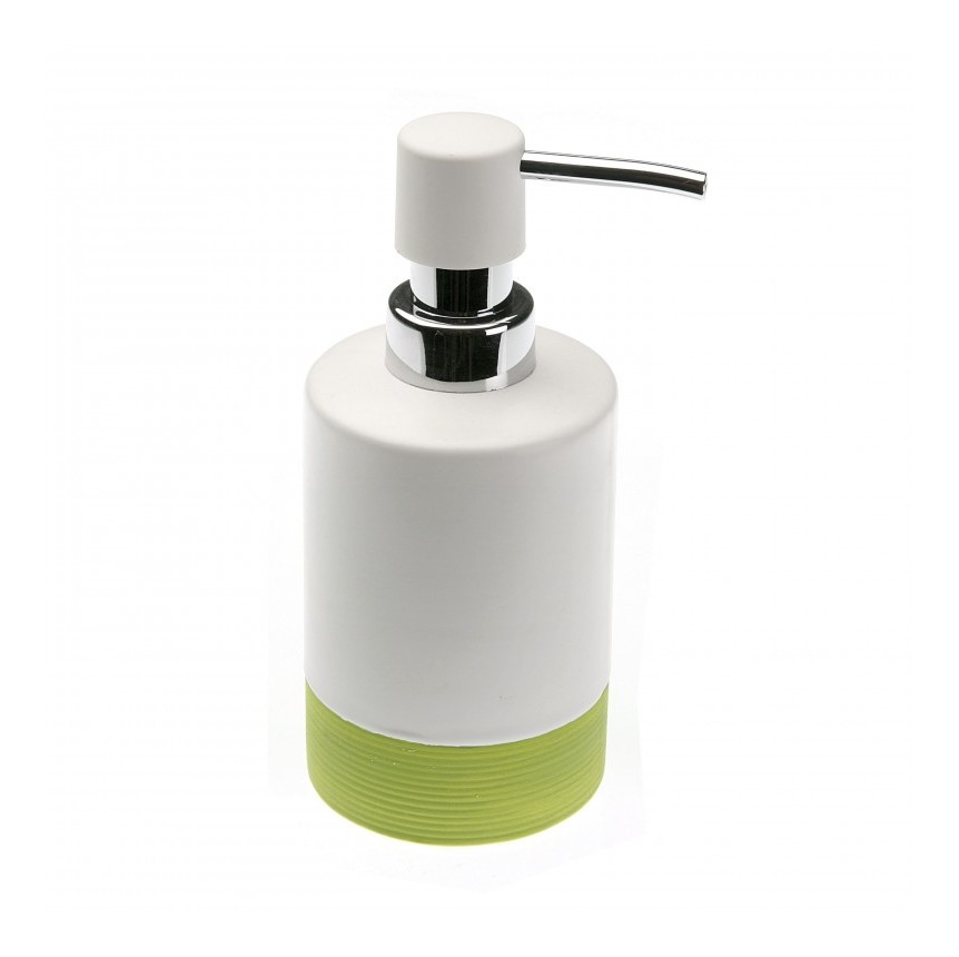Dispensador jabon ba o blanco verde ba os for Dispensador de jabon de pared