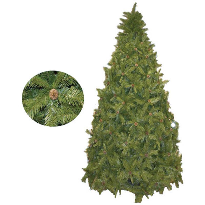 Dutchess albero di natale altezza 210 cm base metallo con for Albero di natale con pigne