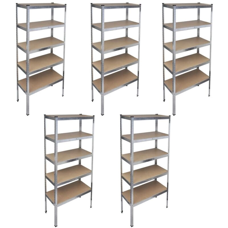 Estante de almacenamiento garaje estanter a 5 piezas - Estanterias para garaje ...
