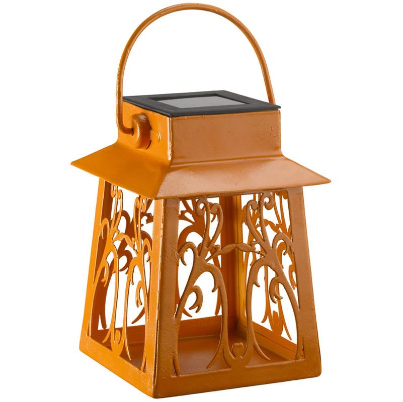 Lampara solar farol colores 17 cm 1080640p jardines y - Farol solar para jardin ...