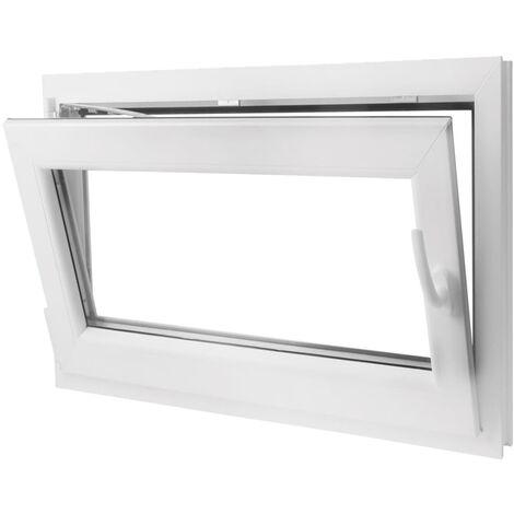Finestra anta ribalta pvc con manico a destra 1000 x 700 mm edilizia materiali da costruzione - Stock finestre pvc ...