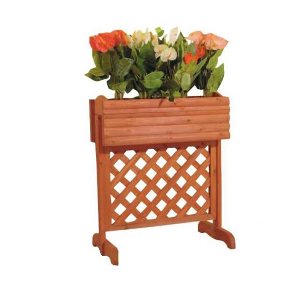 Fioriera da giardino in legno per balcone cm 35x74x81 h - Cassette da giardino ...