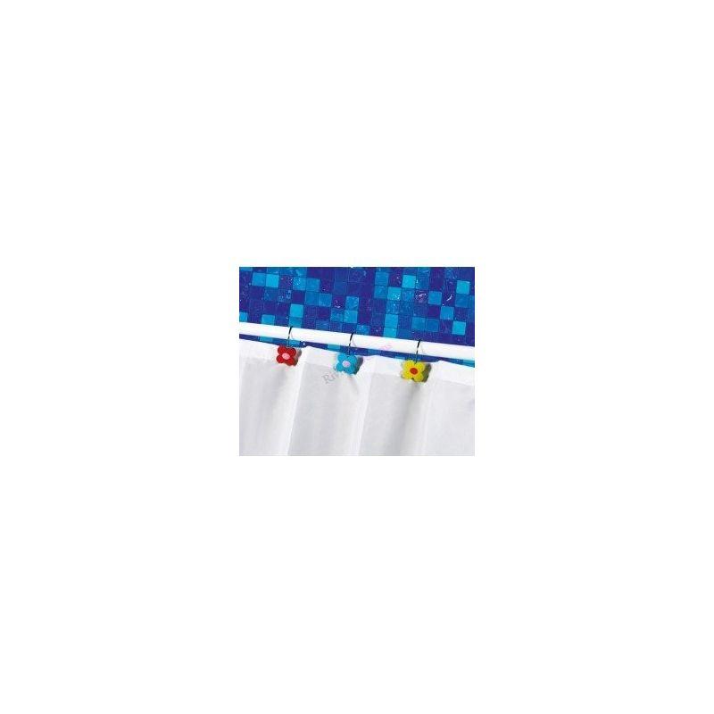 Gedy 12 anillas para cortinas flor co909000200 ba os for Anillas para cortinas