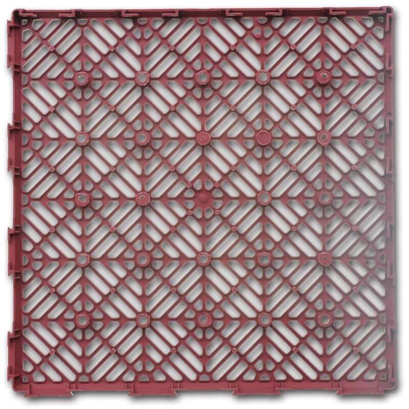 Giardino piastrelle plastica pavimento campagna 29 x 29 cm 24 pezzi giardino piscina - Piastrelle di plastica ...
