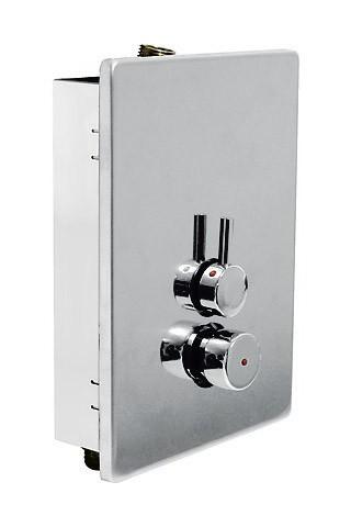 Griferia tres grifo mezclador para ducha con 2 entradas for Grifo mezclador ducha