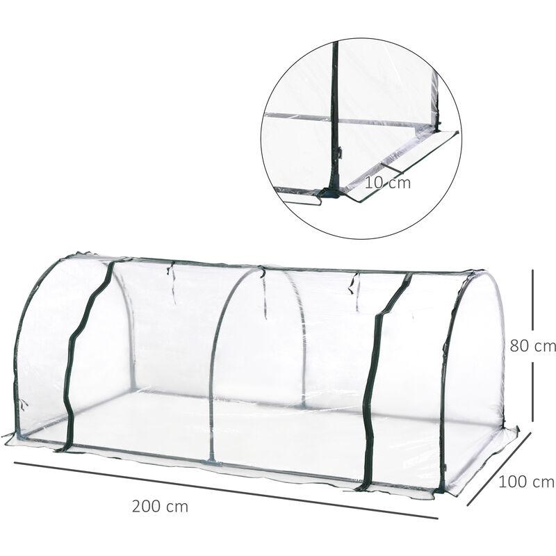 Invernadero caseta 200x100x80 acero y plastico jardin terraza cultivo plantas transparente 01 - Jardin invernadero ...