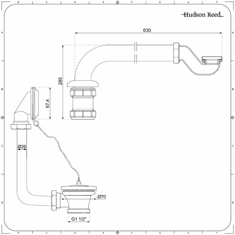Kit tradizionale per vasca freestanding completo con scarico per vasca e sifone a bottiglia - Sifone vasca da bagno ...