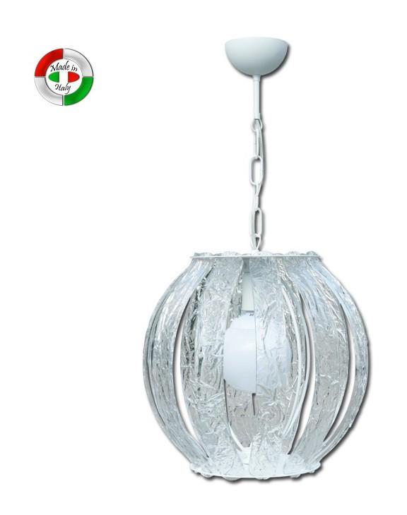 lampadari in metacrilato : Lampadario a sospensione interno in metacrilato effetto ghiaccio ...