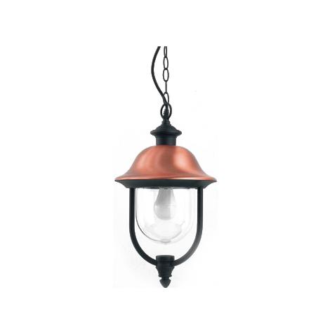 Lampadario lanterna sospensione design antichizzato in alluminio ...