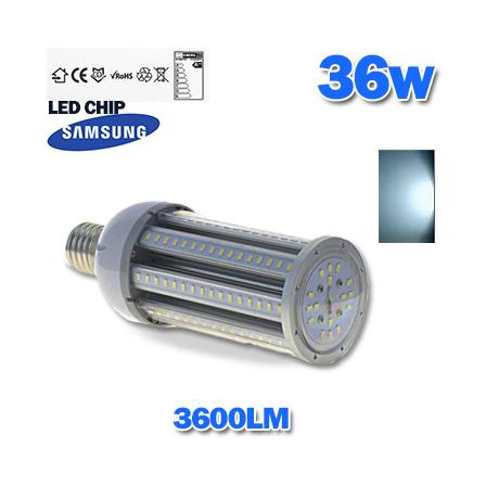 L mpara led industrial tipo mazorca 36w e 40 tono luz - Lampara tipo industrial ...