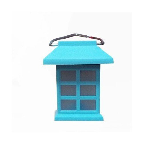 Lanterna solare 1 led a forma di casa con gancio illumina for Casa a forma di v
