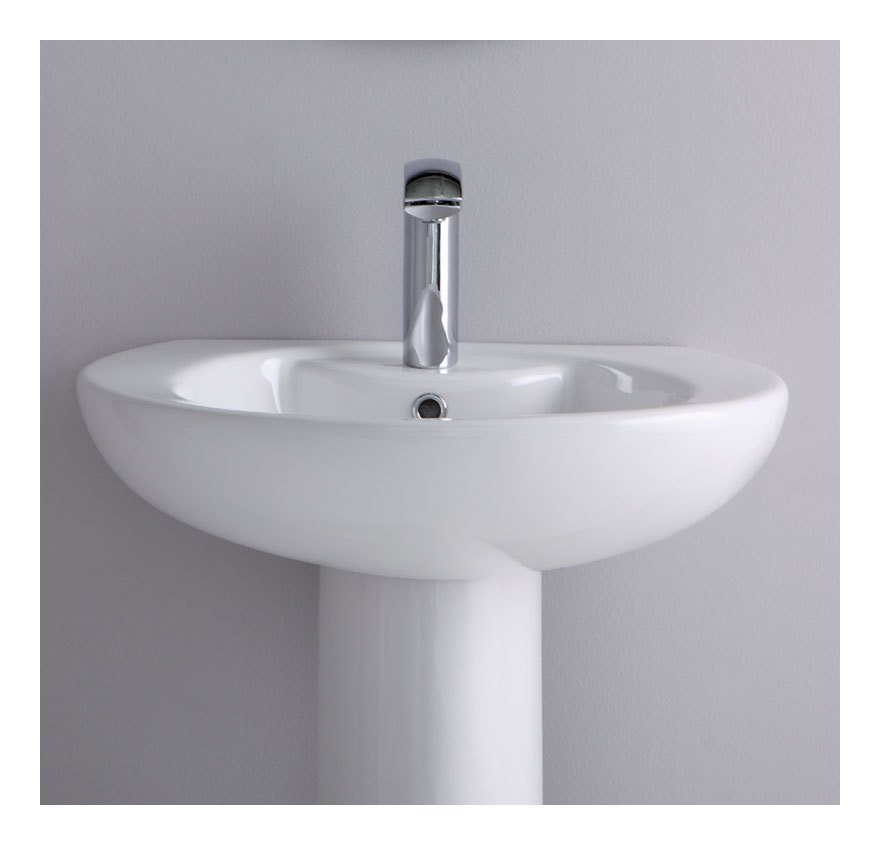 Lavabo su colonna soft ls cs idraulica sanitari for Lavabo a colonna
