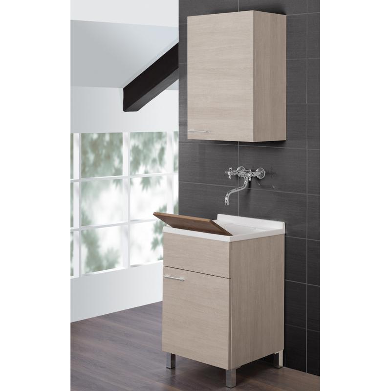 Lavatoio mobile bagno arredo design moderno un anta - Portaoggetti bagno ...