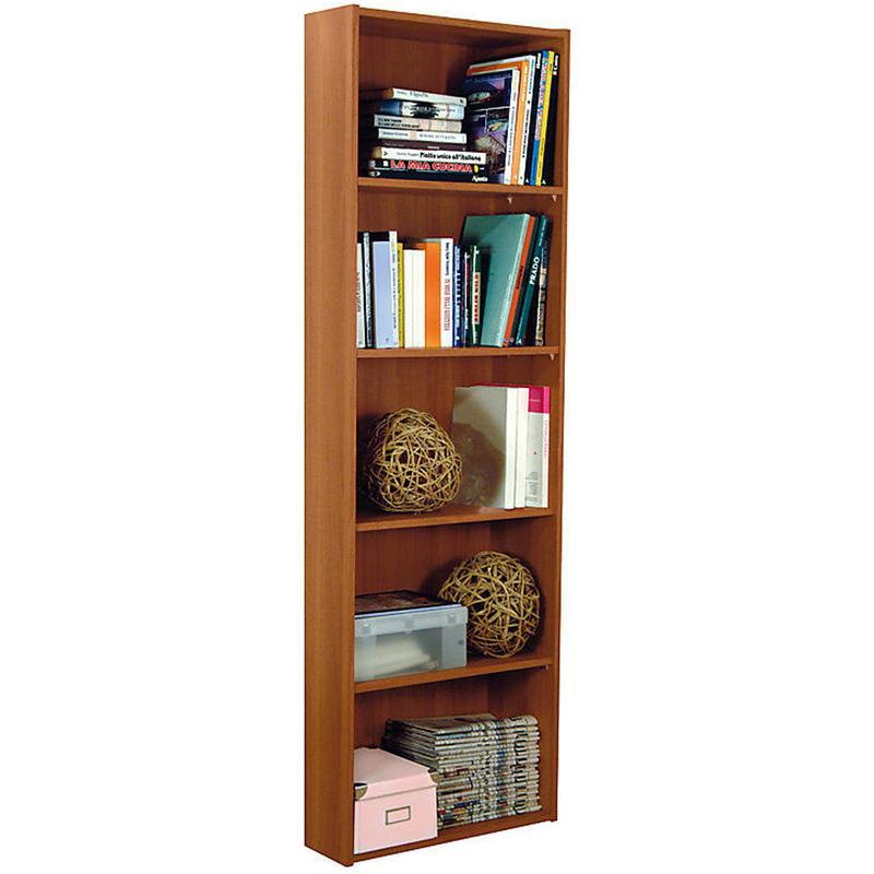 Libreria da parete 5 ripiani 55x21xh175cm for Libreria in vendita