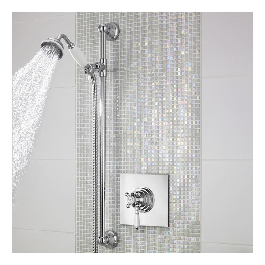 Llave termost tica mezcladora tradicional empotrada de una for Precio de llave mezcladora para ducha