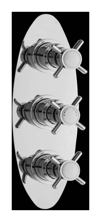 Llave termost tica mezcladora triple de doble salida for Precio de llave mezcladora para ducha