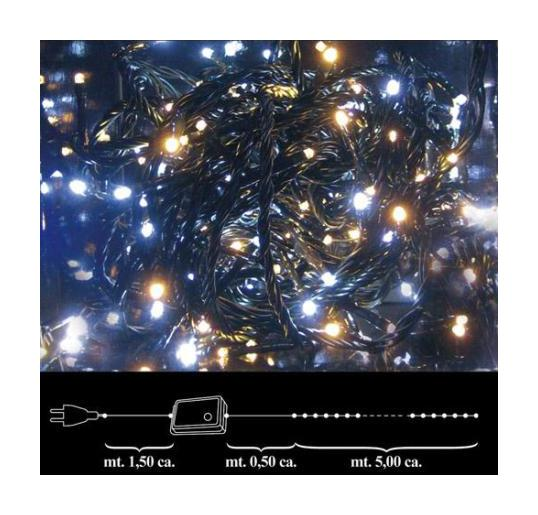 Luces navid 100 leds blancos interior 8020057413440 - Luces led interior ...