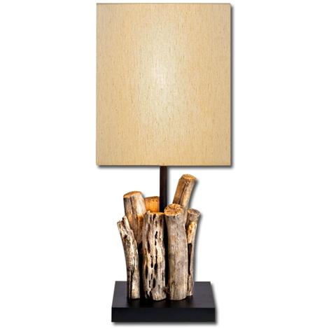 lume da camera cristalli : Lume in legno naturale lampada da soggiorno da camera studio - P14270 ...