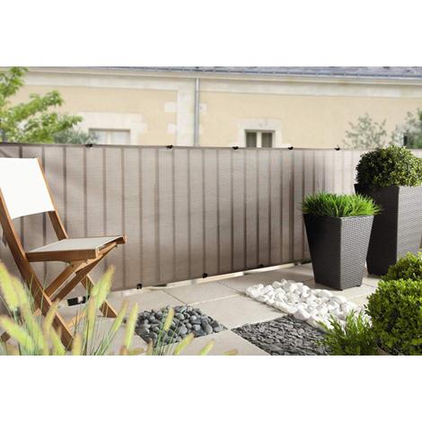 Malla ocultacion plata 1x5 m 174022 jardines y piscinas - Cortavientos de jardin ...