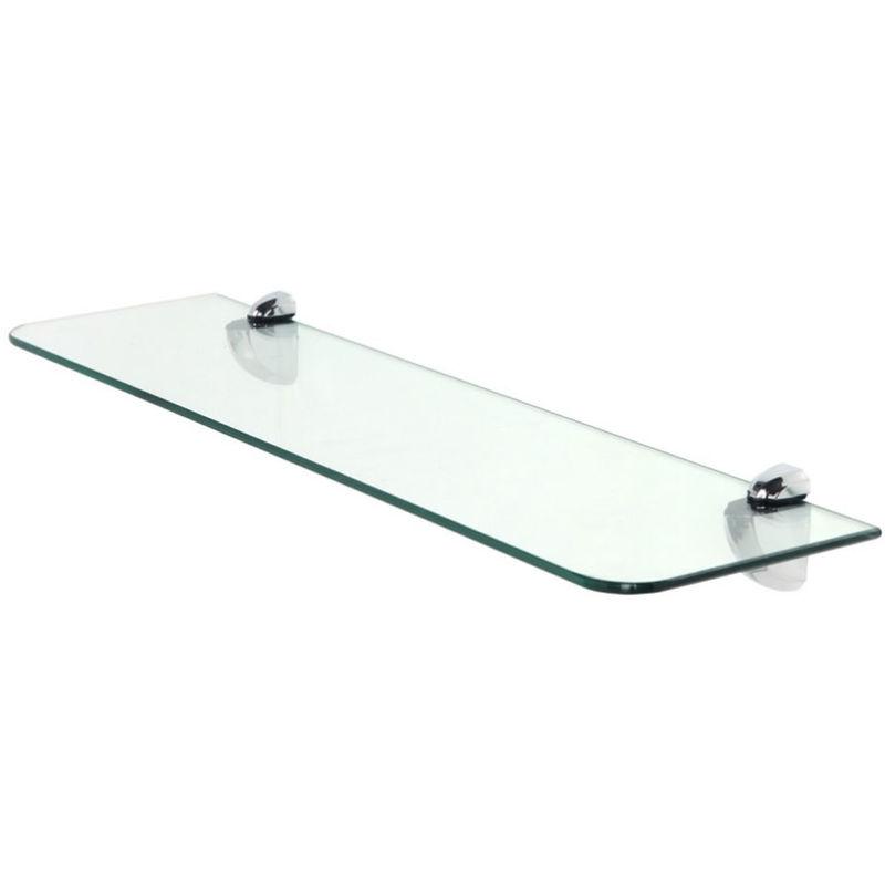 Mensola rettangolare in vetro temperato 60x15cm reggi for Armadietti bagno brico