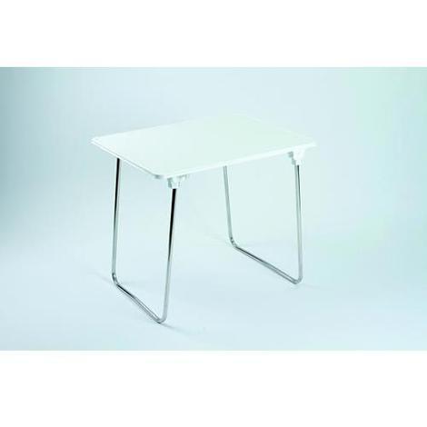 Mesa aluminio plegable blanca 80x60 117al jardines y for Mesa plegable aluminio