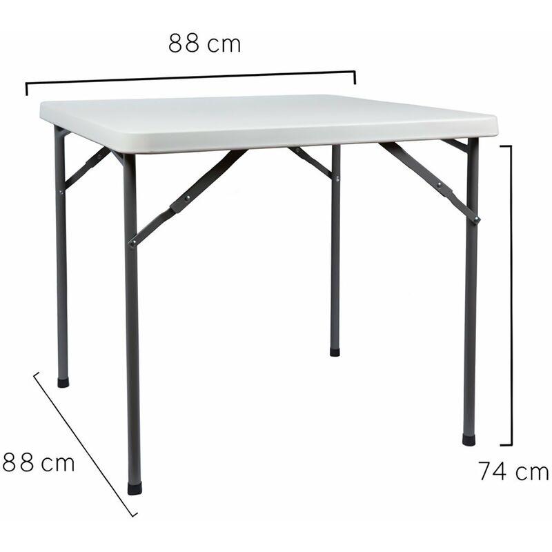 Mesa plegable cuadrada 86x86x74cm 8000071967679 for Mesa cuadrada plegable