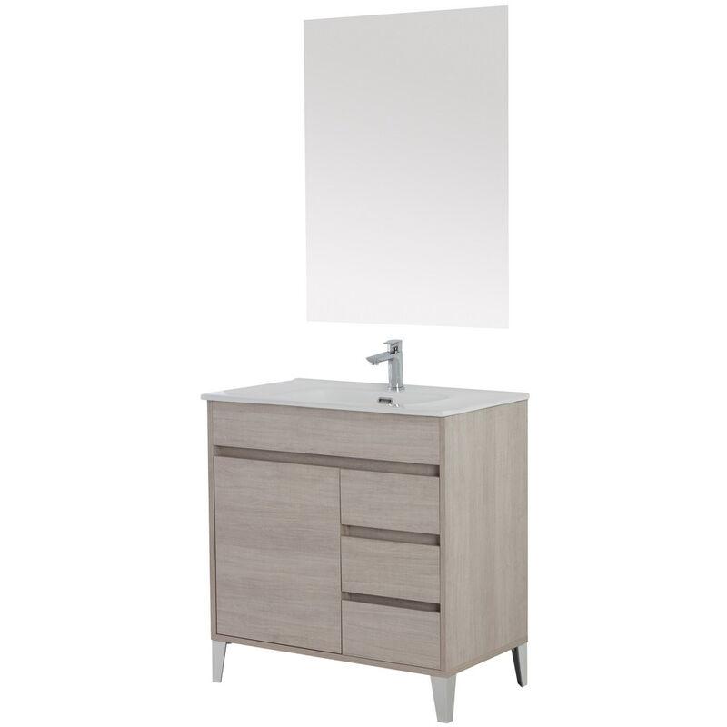 Mobile bagno composizione lavabo ceramica specchio arredo ...