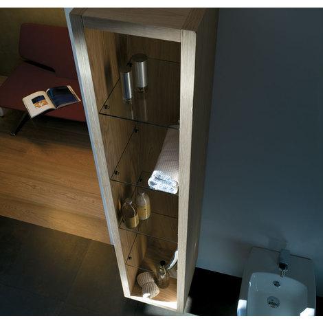 Mobile verticale sospeso aperto MOD,Finiture disponibili:Rovere