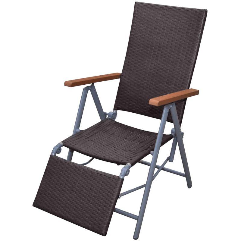 Mueble de rat n marr n de jard n silla marco de aluminio - Sillas de jardin de aluminio ...