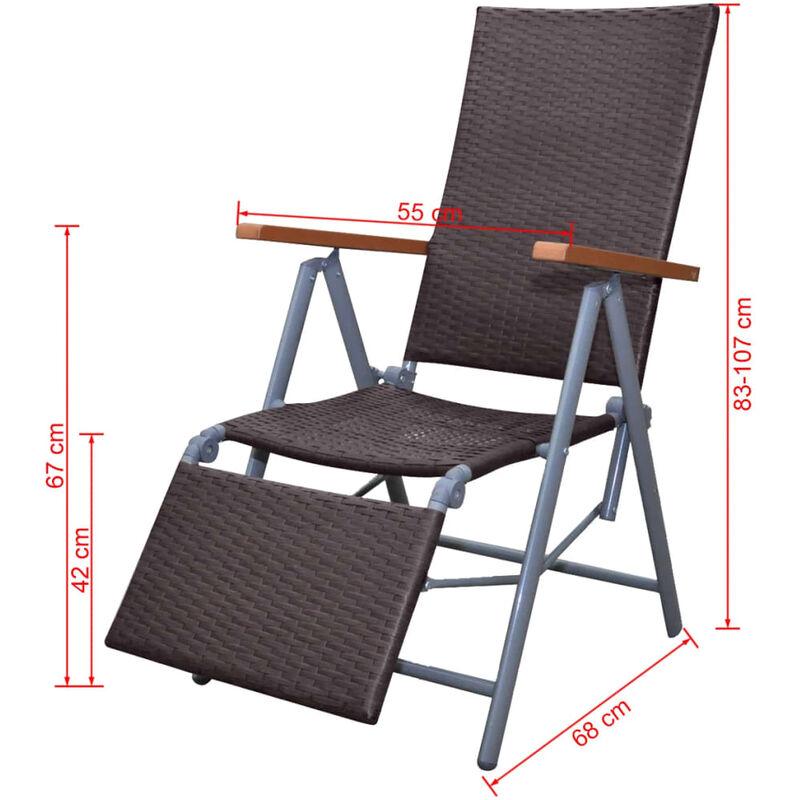 Mueble de rat n marr n de jard n silla marco de aluminio for Bancos de aluminio para jardin
