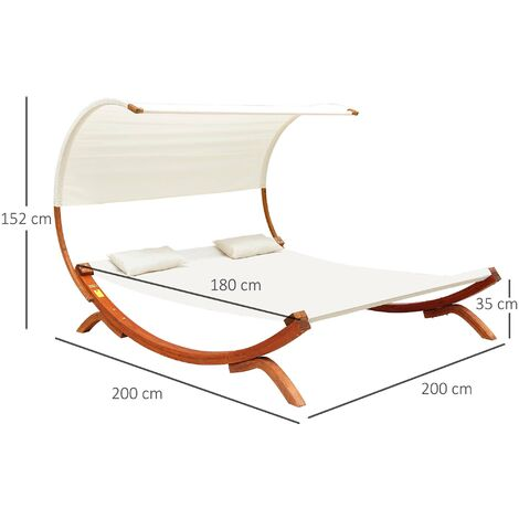 Double Sun Lounger Hammock Bed