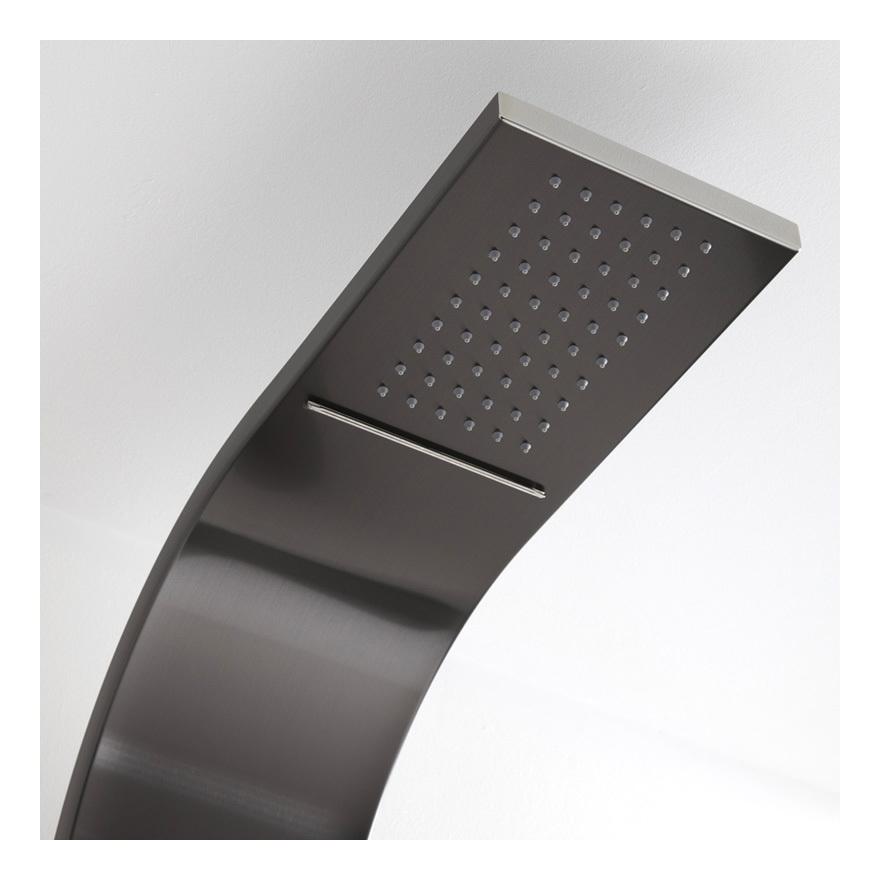 Panel de ducha termost tico hidromasaje con alcachofa for Ducha efecto lluvia