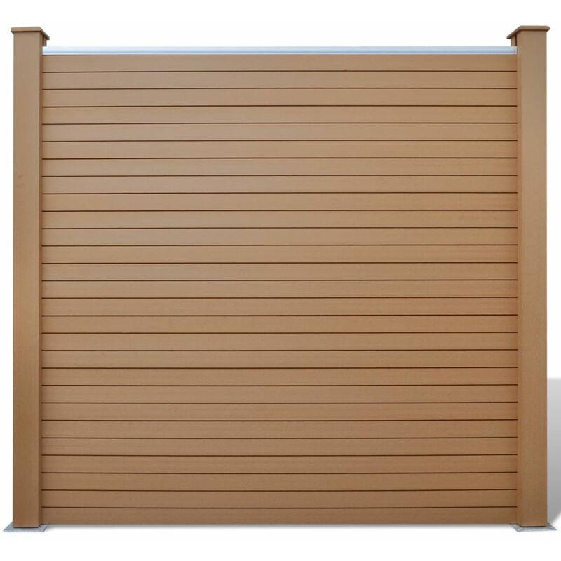 Pannello recinzione per giardino quadrato in wpc marrone - Recinzione piscina legno ...