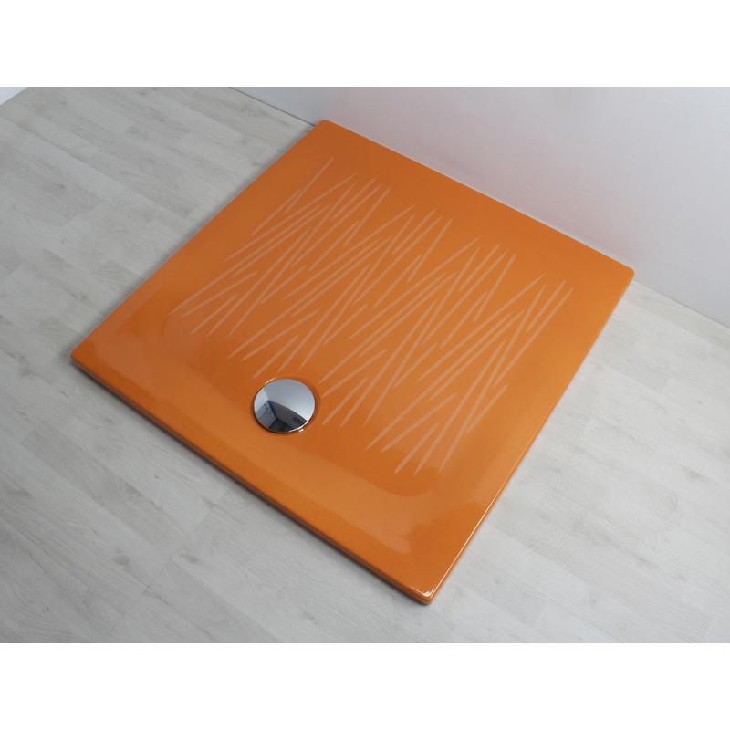Piatto doccia filo 90x90 arancio 806032 idraulica - Posare un piatto doccia ...