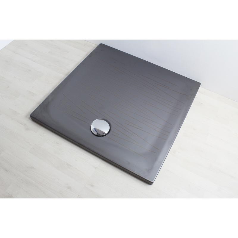 Piatto doccia filo 90x90 metal 806039 idraulica - Posare un piatto doccia ...