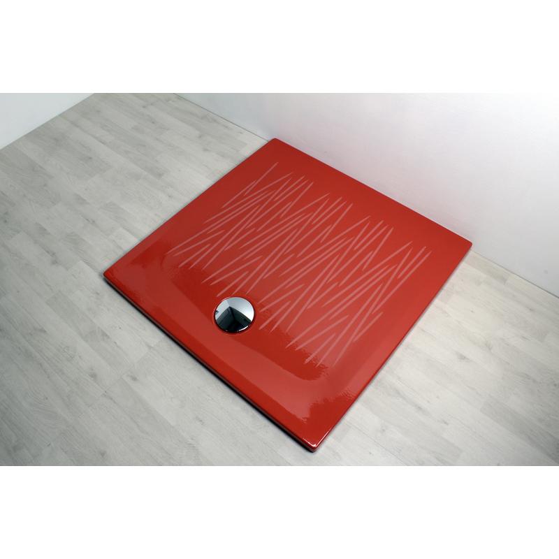 Piatto doccia filo 90x90 rosso 806034 idraulica - Posare un piatto doccia ...