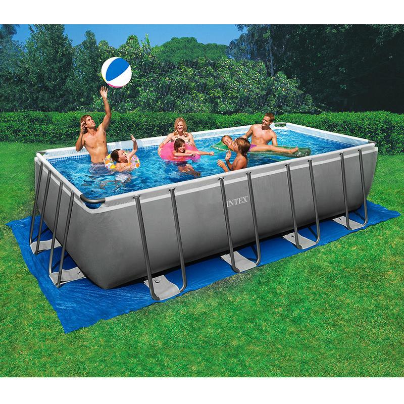 Intex piscina fuoriterra acciaio 549x274x132cm pompa for Teli laghetti artificiali